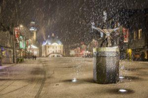 Tullepetaone in de sneeuw