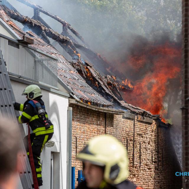Grote brand in centrum van Roosendaal